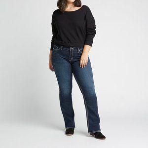 Silver Dark Wash Blue Jeans Bootcut Size 36